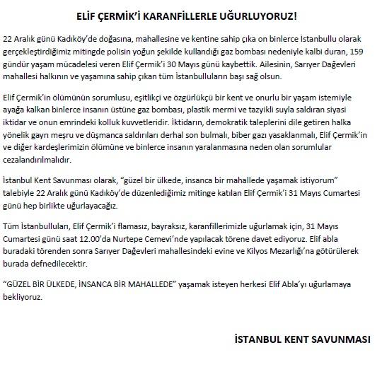 ELİF ÇERMİK'İ KARANFİLLERLE UĞURLUYORUZ!