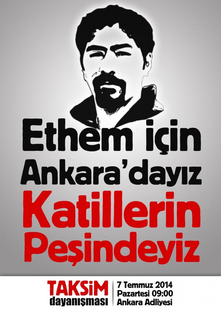 Ethem için Ankara'dayız